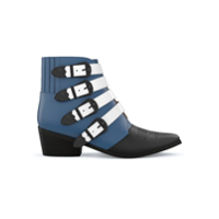 Toga Pulla Ankle Boot De Couro - Electric Blue