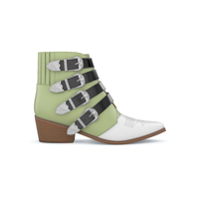 Toga Pulla Ankle Boot De Couro - Mint Green