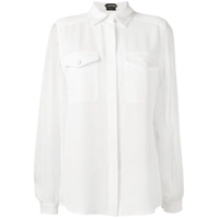 Tom Ford Camisa De Seda - Branco