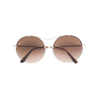 Tom Ford Eyewear Óculos De Sol 'veronique 02' - Metálico