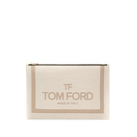 Tom Ford Logo Clutch Bag - Neutro