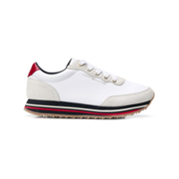 Tommy Hilfiger Platform Lace-Up Sneakers - Branco