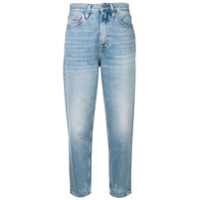 Tommy Jeans Cropped Mom Jeans - Azul