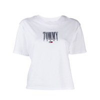 Tommy Jeans Logo Embroidered T-Shirt - Branco