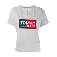 Tommy Jeans Logo Printed T-Shirt - Cinza
