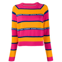 Tommy Jeans Logo Stripe Sweater - Rosa
