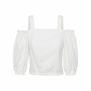 Top Cropped Beach - Off White