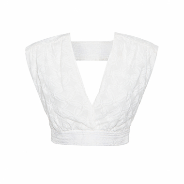 Top Cropped Beauty - Off White