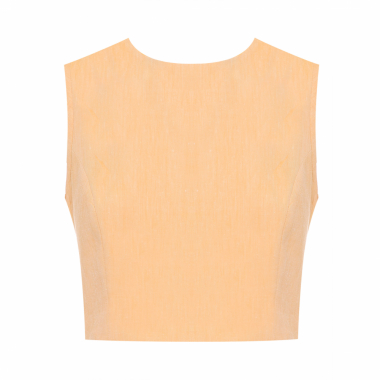 Top Cropped Egg - Amarelo