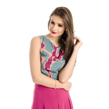 Top Cropped Estampado Alphorria-Feminino