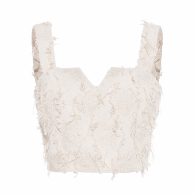 Top Cropped Natural - Bege