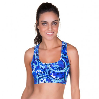 Top Fitness Estampado Azul Marcyn