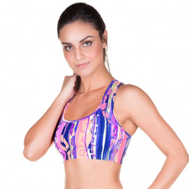 Top Fitness Estampado Roxo Marcyn