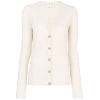 Tory Burch Cardigan Canelado - Neutro