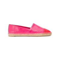 Tory Burch Espadrille Color Block De Couro - Rosa