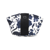Tory Burch Floral Print Make Up Bag - Branco