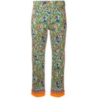 Tory Burch Printed Cropped Jeans - Verde