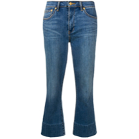 Tory Burch Stonewashed Cropped Jeans - Azul