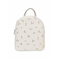 Tosca Blu Metallic Eyelet Backpack - Branco