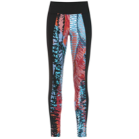 Track & Field Legging 'abstrata' Estampada - Preto