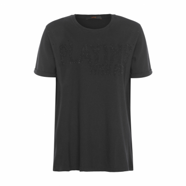 T-Shirt Playing Animale – Preto