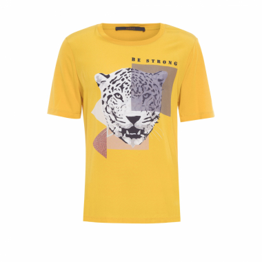 T-Shirt Be Strong Animale - Amarelo