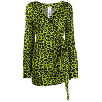 Ultràchic Vestido Envelope Animal Print - Verde