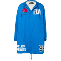 Undercover Patch Parka Coat - Azul