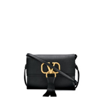 Valentino Logo Shoulder Bag - Preto