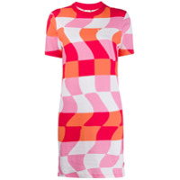Vans Distorted Checkered T-Shirt Dress - Branco