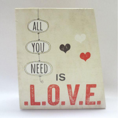 Vaso All You Need Is Love