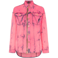 Versace Camisa Jeans - Rosa