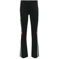 Versace Calça Flare Com Estampa Pillow Talk Tape' - Preto