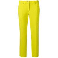Versace Collection Calça Slim Cropped - Amarelo