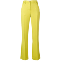 Versace Collection Flared Slim Trousers - Verde