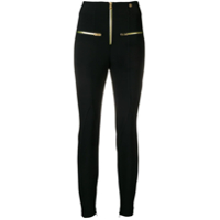Versace Collection Calça Legging Cintura Alta Com Zíper - Preto