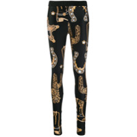 Versace Collection Legging Estampada - Preto