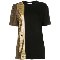 Versace Collection Camiseta Com Tachas - Preto