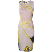 Versace Collection Vestido Ajustado Midi - Cinza