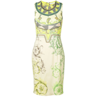 Versace Collection Short Printed Dress - Verde