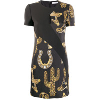 Versace Collection Short Printed Dress - Preto