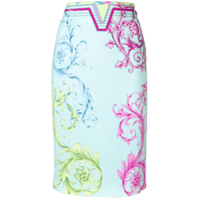 Versace Collection Signature Print Skirt - Azul