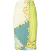 Versace Collection Signature Print Skirt - Verde