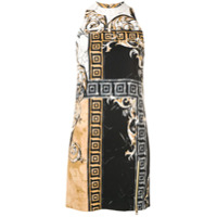 Versace Collection Vestido Com Estampa Barroca Marble - Preto