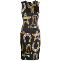 Versace Collection Vestido Estampado - Preto