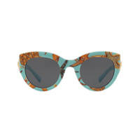 Versace Eyewear Tribute Printed Sunglasses - Azul