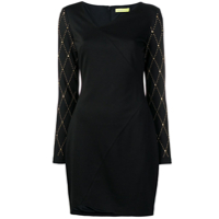 Versace Jeans Studded Sleeve Dress - Preto