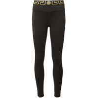 Versace Legging 'greek Key' - Preto