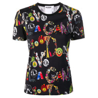 Versus All Over Print T-Shirt - Preto