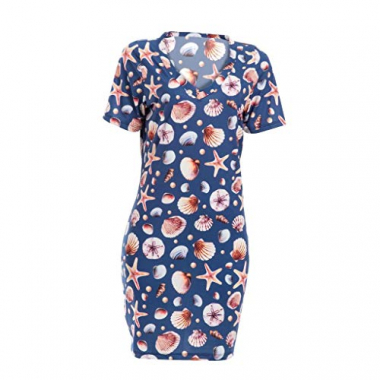Vestido Adulto T-Shirt Estampado